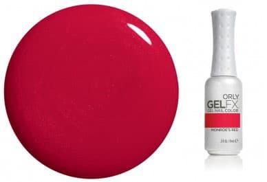 Gel Fx Nail Lacquer Гель-ЛакЛак для ногтей<br>Модные варианты покрытий GELFX от провокационно ярких цветов до нежных тонов французского маникюра позволят воплотить в жизнь самые необычные творческие идеи  А компактный стильный дисплей для всего ассортимента препаратов гель-маникюра GELFX сделает работу мастера более удобной  а выбор оттенка для клиента - более простым и комфортным  Гель-маникюр GELFX  обеспечит ногтям надежную защиту  стойкий результат и роскошный блеск  Теперь цветное покрытие ухаживает за ногтями  Гель-маникюр GELFX не содержит в своём составе вредных для здоровья составляющих  таких как толуол  дибутилфталат и формальдегид    Технология нанесение покрытия Gel FX    1 Отодвиньте кутикулу пушером GEL FX Cuticle Pusher и удалите остатки масла обезжиривателем Gel FX 3-in-1 Cleanser  2 На свободный край ногтя нанесите тонкий слой праймера Gel FX Primer  высушите на воздухе 30 сек   3 Нанесите очень тонкий слой базового покрытия Gel FX Basecoat и заполимеризуйте  Время полимеризации в LED-лампе 10-20сек   зависит от модели лампы    4 Очистите липкий слой кистью ORLY Dry Brush для предупреждения отслаивания и скалывания   5 Нанесите очень тонкий слой гель-лака Gel FX Nail Lacquer  заполимеризуйте его  Время полимеризации в LED-лампе 30-60сек   зависит от модели лампы    6 Нанесите второй слой гель-лака и заполимеризуйте его   7 Нанесите тонкий ровный слой закрепителя Gel FX Topcoat и заполимеризуйте его  Время полимеризации в LED-лампе 30-60сек   зависит от модели лампы    8 Удалите липкий слой безворсовой салфеткой Gel FX Lint-Free Wipe  смоченной обезжиривателем Gel FX 3-in-1 Cleanser   10 На каждый ноготь нанесите 1-2 капли масла для кутикулы Gel FX Cuticle Oil<br>Type: № 52 MonroeS Red 9 мл;