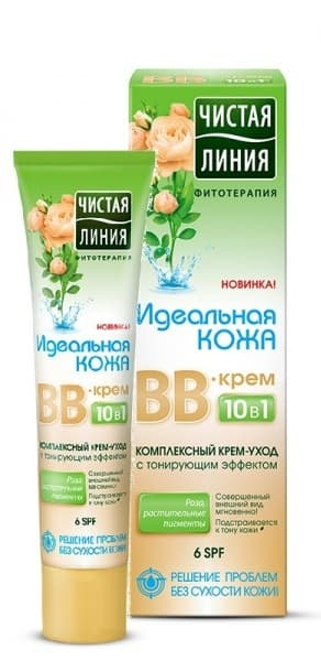 Крем Bb 10 В 1 Идеальная КожаBB и CC кремы<br>В-крем 10 в 1 - это легкий крем Идеальная кожа с тонирующим эффектом  сочетающий в себе преимущества ухаживающего и тонального средств  Крем выравнивает тон и матирует кожу  делает поры менее заметными  Комплекс природных активных компонентов глубоко увлажняет и питает кожу  освобождает ее от токсинов  Крем выравнивает тон и матирует кожу  делает поры менее заметными  Компоненты  Роза  Растительные и минеральные пигменты  Результат  Матирует кожу на весь день  Скрывает несовершенства без  эффекта маски   Придает сияние и отдохнувший вид  Защищает от негативного воздействия окружающей среды<br>Type: 40 мл;