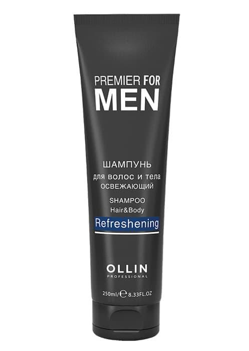 Premier For Men Шампунь Для Волос И Тела ОсвежающийШампуни и бальзамы<br>Освежающий шампунь для волос и тела идеален для ежедневного ухода  Деликатно очищает кожу и волосы  тонизирует  оставляя эффект свежести на весь день  Содержит пентиленгликоль Ментил лактат Провитамин B5<br>Type: 250 мл;