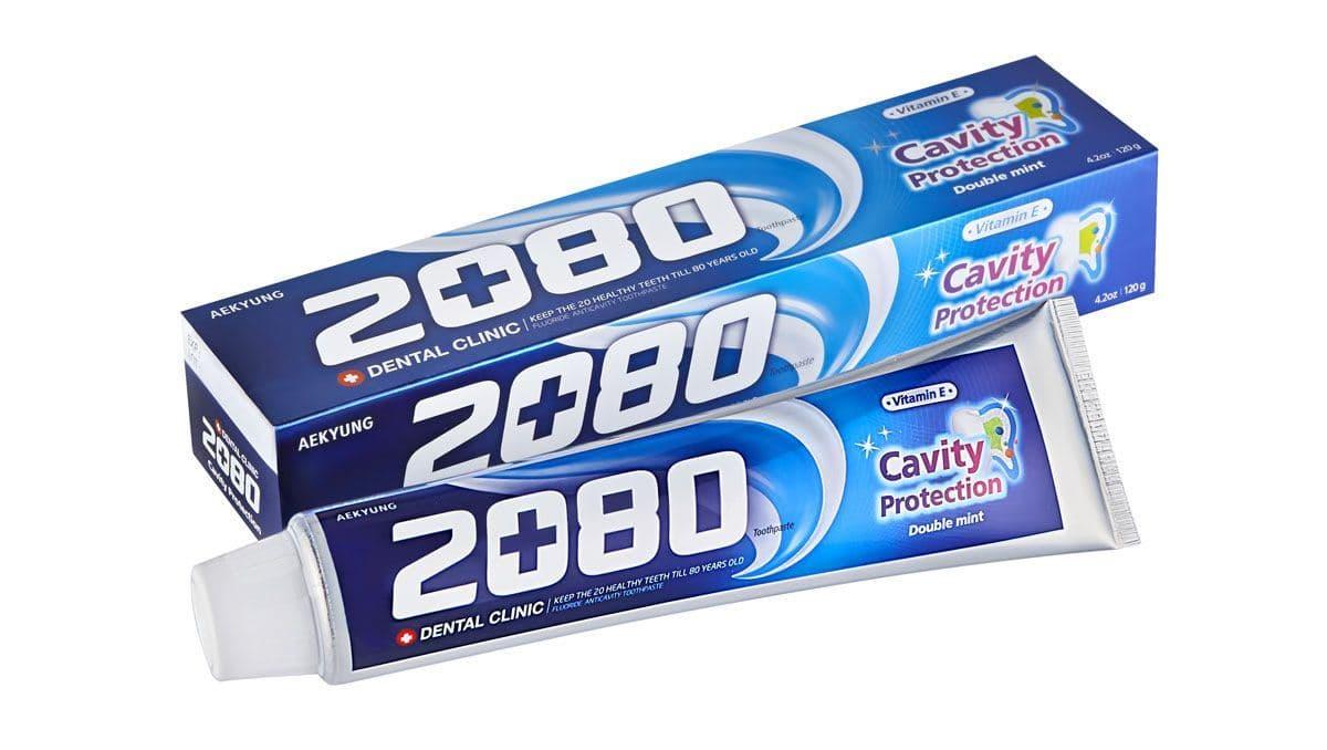 Kerasys Зубная Паста 2080 Натуральная Мята С Фтором И Витамином Е