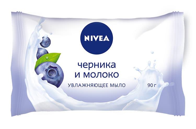 Nivea Мыло-Уход Черника И Молоко