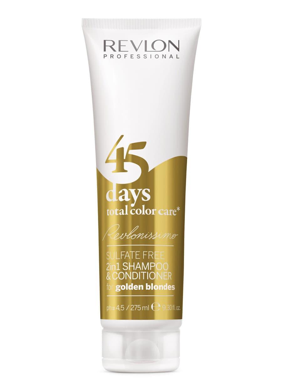 Revlon Professional 45 Days Total Color Care Шампунь-Кондиционер Для Золотистых Блондированных Оттенков