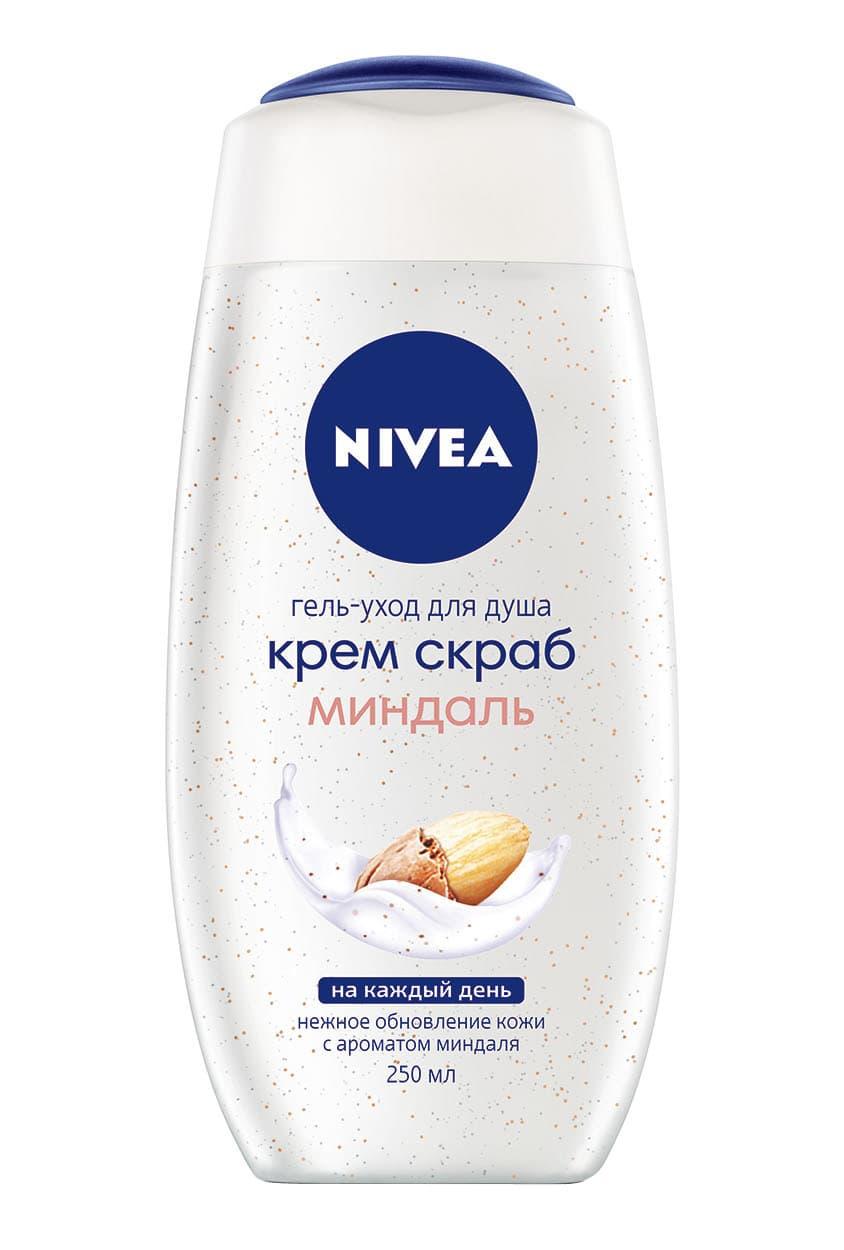 Nivea Гель-Уход Для Душа Крем Скраб Миндаль