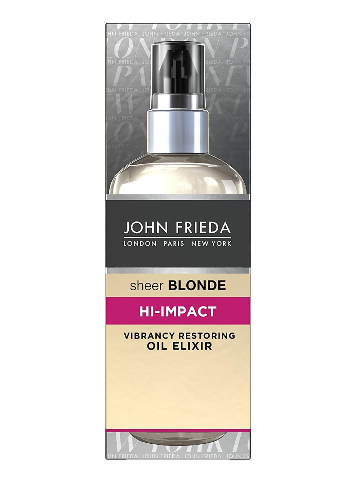 John Frieda Sheer Blonde Hi-Impact Масло-Эликсир Для Восстановления Сильно Поврежденных Волос