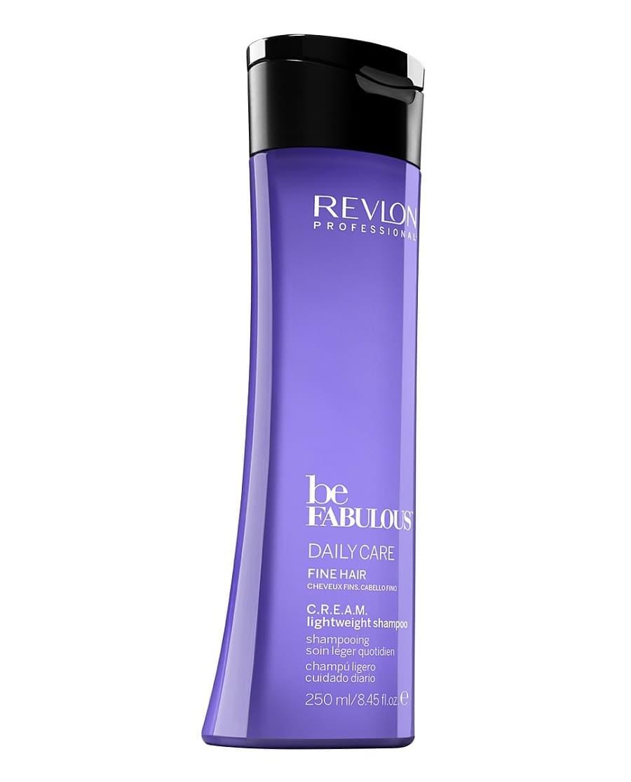Be Fabulous Очищающий Шампунь Ежедневный Уход Для Тонких ВолосШампуни<br>Шампунь Revlon Be Fabulous C R E A M  Lightweight Shampoo - это сочетание удивительно бережного очищения и питания  Продукт разработан специально для тонких  нуждающихся в особенном уходе волос  помогает придать им здоровый вид и потрясающую пышность В состав шампуня входит кератин - белок  отвечающий за эластичность и плотность каждого волоска  Он проникает в структуру  укрепляет изнутри  делает локоны более объемными  Благодаря высокой концентрации витамина Е средство обеспечивает интенсивный антивозрастной уход  убирает хрупкость кончиков  тусклость и безжизненность прядей  Бетаин и пантенол отлично увлажняют  смягчают волосы  а также благотворно влияют на состояние кожных покровов  защищают от сухости и раздражения  Специальная система защиты цвета QUATERNIUM-22 делает шампунь идеальным не только для тонких  но и для окрашенных локонов<br>Type: 250 мл;