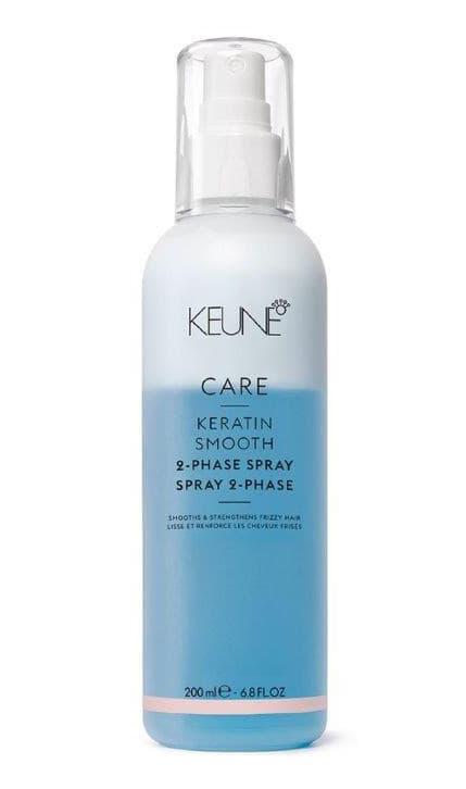Care Keratin Smooth Двухфазный Кондиционер-Спрей Кератиновый КомплексКондиционеры<br>Двухфазный Кондиционер-спрей Кератиновый комплекс CARE KERATIN SMOOTH от KEUNE  Спрей помогает разгладить волосы и сделать их сильнее  Инновационная система подвижности локонов разделяет и укрепляет их  Кератин восстанавливает волосы и придает силу  Масло семян малины смягчает и делает локоны подвижными  Кератин и технология силсофт регулируют баланс влаги  одновременно придавая силу и разглаживая волосы  Низкий уровень рН смягчает кутикулу и усиливает блеск волос<br>Type: 200 мл;