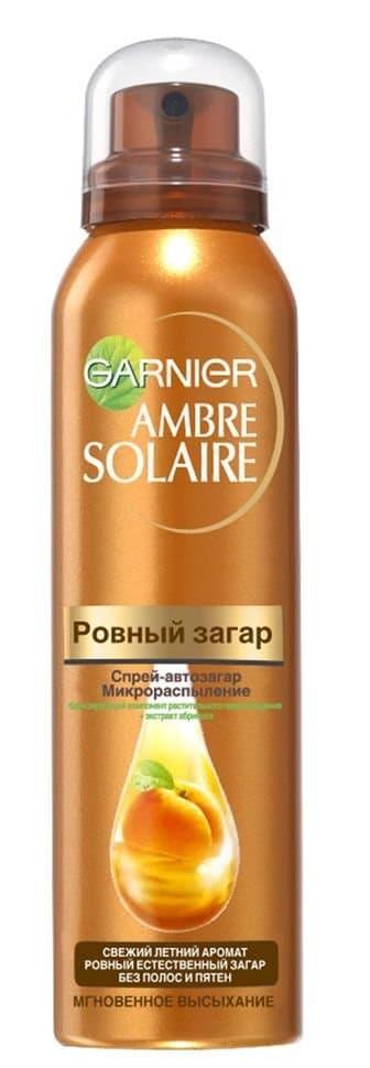 Garnier Ambre Solaire Ровный Загар Спрей-Автозагар Для Тела