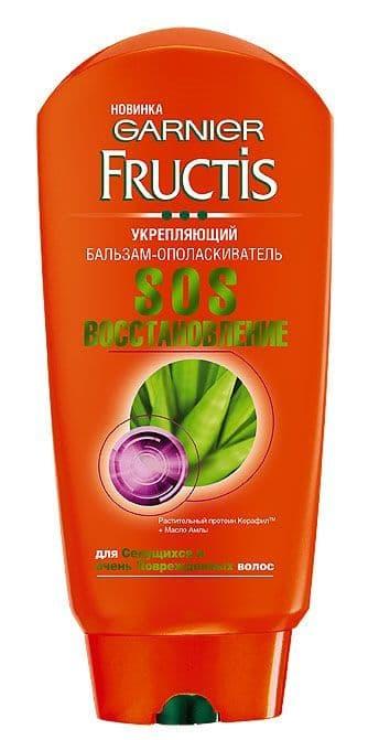 Garnier Fructis Бальзам-Ополаскиватель Sos Восстановление Укрепляющий Для Секущихся И Поврежденных Волос