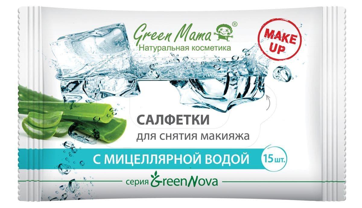 Green Mama Салфетки Для Снятия Макияжа С Мицеллярной Водой