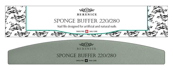 Купить Sponge Buffer Пилка Для Ногтей Полумесяц 220X280, Berenice