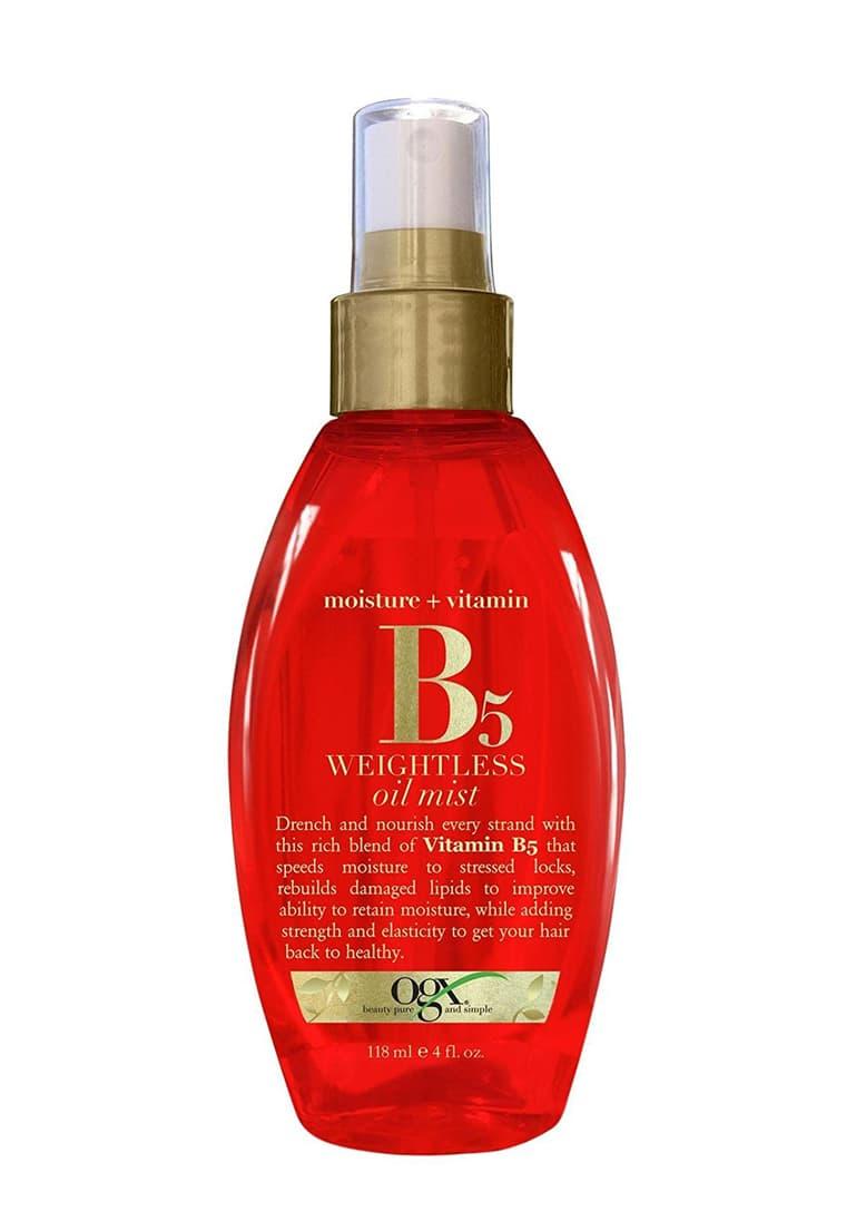 Moisture  Vitamin B5 Легкое Увлажняющее Масло-Вуаль С Витамином В5Уход за волосами<br>Легкое увлажняющее масло-вуаль с витамином В5 Moisture   Vitamin B5 Weightless Oil Mist придает волосам дополнительный блеск и питание  помогает удерживать влагу внутри волоса  восстанавливает поврежденные липиды  придает волосам прочность и эластичность  чтобы волосы выглядели здоровыми и сильными<br>Type: 118 мл;