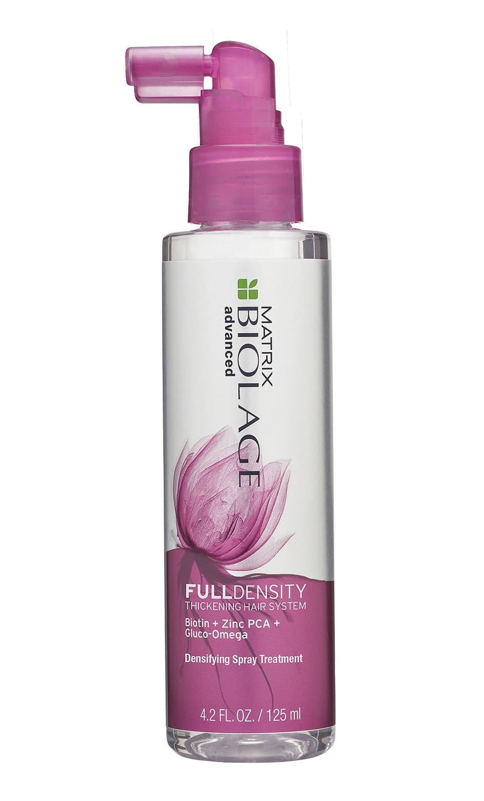Biolage Fulldensity Уплотняющий Спрей Для Тонких ВолосУход за волосами<br>УПЛОТНЯЮЩИЙ СПРЕЙ FULLDENSITY Гамма BIOLAGE FULLDENSITY  ФуллДенсити  увеличивает диаметр волоса и сокращает его ломкость для придания волосам видимой густоты  Спрей-уход мгновенно придает толщину волокнам волоса  увеличивая их диаметр до 9  уже после 1 использования Увеличение диаметра существующих волос после использования Уплотняющего спрея При использовании системы из ФУЛЛДЕЭНСИТИ шампуня и кондиционера<br>Type: 125 мл;