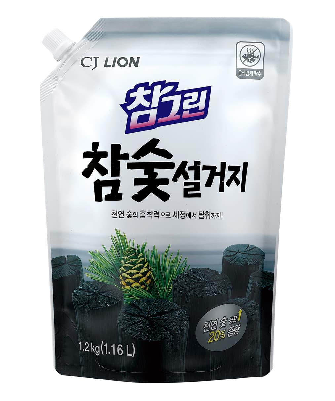 Cj Lion Средство Для Мытья Посуды Овощей И Фруктов Charmgreen- Древесный Уголь