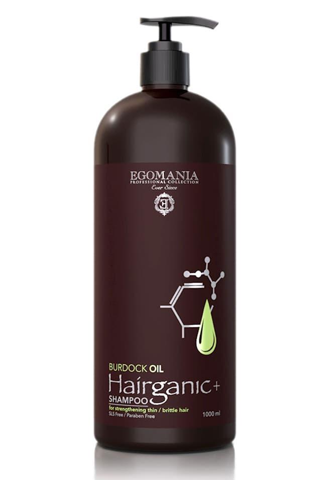 Egomania Hairganic Burdock Oil Шампунь С Маслом Репейника Для Укрепления Тонких Ломких Волос