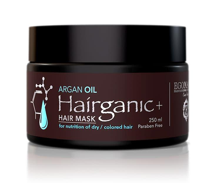Купить Hairganic Argan Oil Маска С Маслом Аргана Для Питания Сухих Окрашенных Волос, Egomania