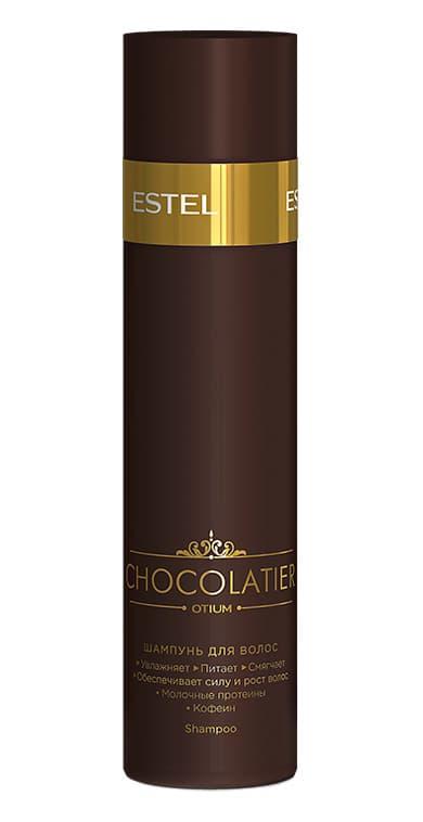 Chocolatier Шампунь Для ВолосШампуни<br>Формула  кофеин  молочные протеины  Результат  Деликатное очищение  тонус кожи головы  стимуляция роста волос  увлажнение и питание по всей длине<br>Type: 250 мл;