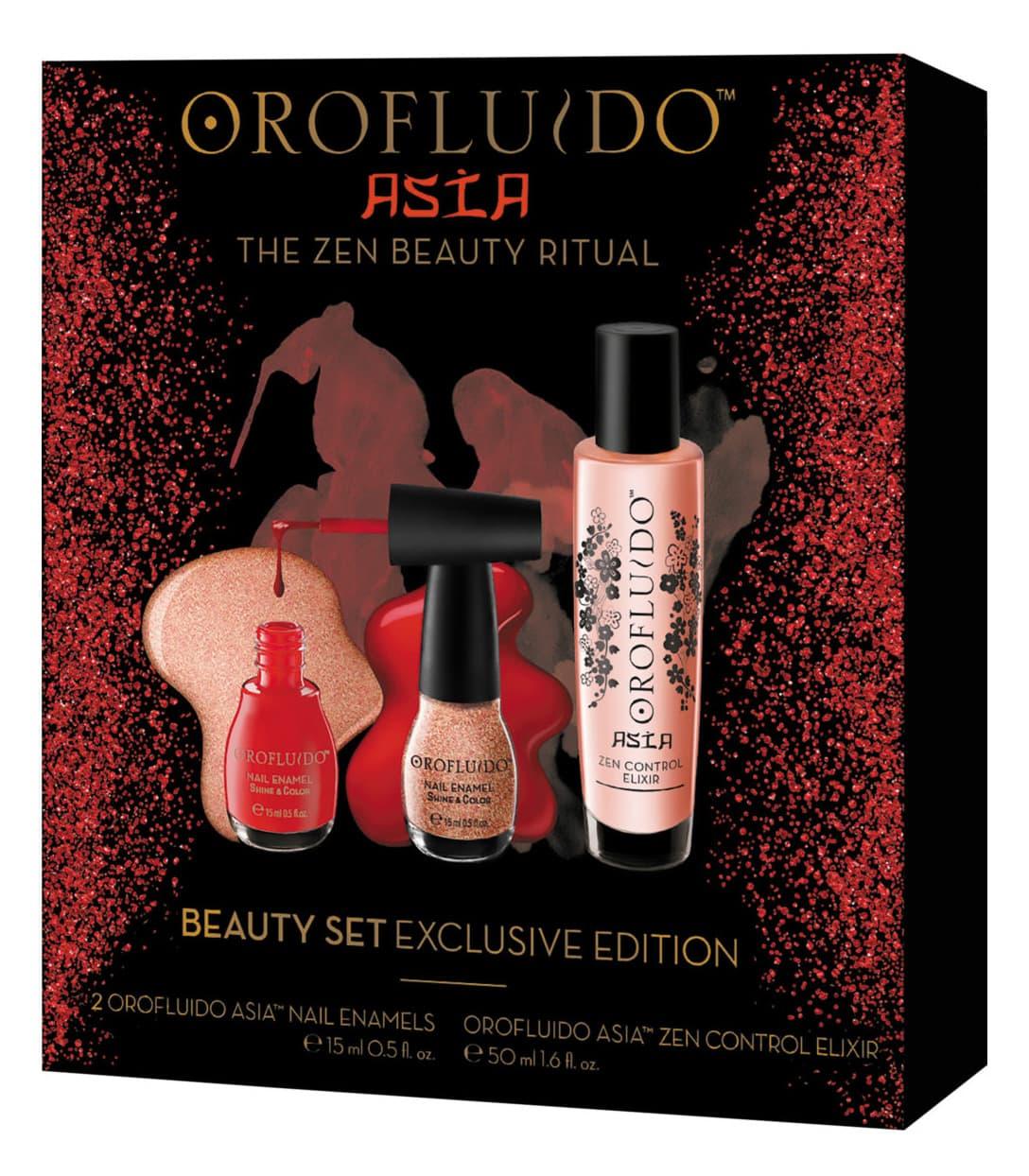 Подарочный Набор Orofluido Asia Эликсир 50 Мл  Лаки Для Ногтей