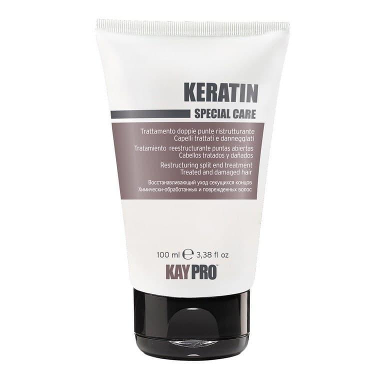 Keratin Восстанавливающий Крем С Кератином Для Секущихся КонцовУход за волосами<br>Восстанавливающий крем с кератином для секущихся концов Keratin от Kay Pro - реконструирующий уход с кератином для химически обработанных и поврежденных волос  Восстанавливает секущиеся концы и предотвращает их появление  Не содержит масла  Не утяжеляет  Делает волос более плотным  мягким и ярким Значительно облегчает расчесывание     Способ применения  Нанести небольшое количество на влажные или сухие кончики волос и приступить к укладке  Не смывать<br>Type: 100 мл;