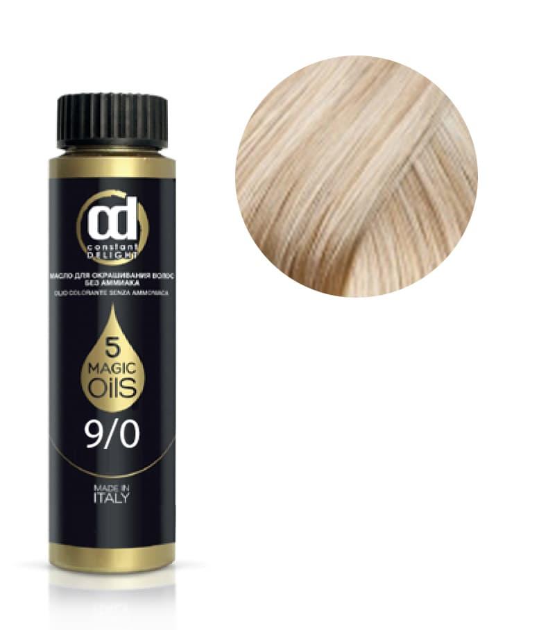 5 Magic Oils Olio Colorante Масло Для Волос Без АммиакаКраски для волос<br>Инновационная мультивитаминная система окрашивания волос 5 Magic Oils на основе 5 масел  МАСЛА АРГАНЫ  МАСЛА МАКАДАМИИ  МАСЛА АВОКАДО  МАСЛА ЖОЖОБА  МАСЛА ХЛОПКА  5 магических масел в составе красителя послойно закрепляют пигмент в структуре волоса и разглаживают кутикулярный слой  создавая тем самым волшебный многомерный мультитональный блеск  Питание и увлажнение волос в процессе окрашивания  стойкий  глубокий цветовой результат и палитра из 59 интенсивных модных оттенков  легко комбинируемых между собой для получения индивидуальных цветов  превращают OLIO COLORANTE в магический кристалл в руках мастера<br>Type: № 9.0 экстра светло-русый 50 мл;