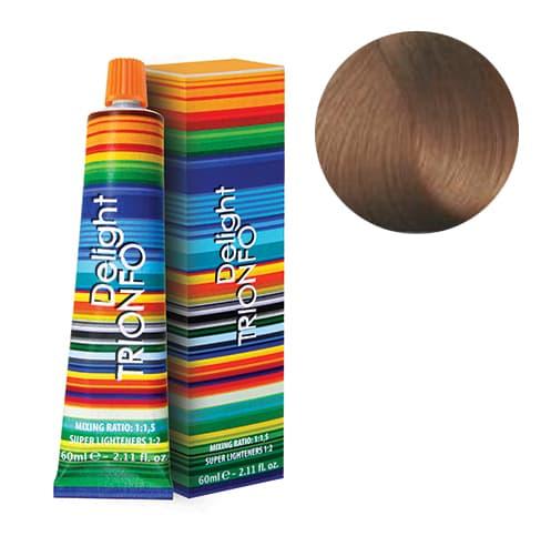 Trionfo Стойкая Крем-КраскаКраски для волос<br>Стойкая крем-краска Trionfo от Constant Delight  Формула содержит инновационные пигменты цвета  масло эвкалипта и розмарина  Полноценный уход за волосами в процессе окрашивания и осветления  Крем-краска гарантирует 100  покрытие седых волос  высокую степень осветления и кондиционирования волос  Позволяет получить сияющие цвета  оттенки блонд и сохранить блеск и гладкость волос  Все оттенки смешиваются между собой для получения индивидуальных цветовых решений     Пропорции смешивания      Основная палитра  1 1 5 с 1 по 9 ряд с 3   6   9   12  эмульсионными окислителями CD  Время выдержки  30-45 мин     Осветляющие красители  10-0  10-19  10-2 с 9  или 12  эмульсионными окислителями CD     Сильно осветляющие  12-0  12-1  12-2  12-5 с 9  или 12  эмульсионными окислителями CD  Время выдержки  45-60 мин<br>Type: № 7-5 Средний русый золотистый 60 мл;