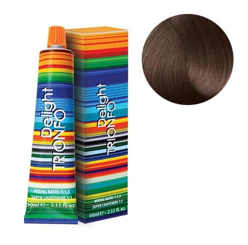 Trionfo Стойкая Крем-КраскаКраски для волос<br>Стойкая крем-краска Trionfo от Constant Delight  Формула содержит инновационные пигменты цвета  масло эвкалипта и розмарина  Полноценный уход за волосами в процессе окрашивания и осветления  Крем-краска гарантирует 100  покрытие седых волос  высокую степень осветления и кондиционирования волос  Позволяет получить сияющие цвета  оттенки блонд и сохранить блеск и гладкость волос  Все оттенки смешиваются между собой для получения индивидуальных цветовых решений     Пропорции смешивания      Основная палитра  1 1 5 с 1 по 9 ряд с 3   6   9   12  эмульсионными окислителями CD  Время выдержки  30-45 мин     Осветляющие красители  10-0  10-19  10-2 с 9  или 12  эмульсионными окислителями CD     Сильно осветляющие  12-0  12-1  12-2  12-5 с 9  или 12  эмульсионными окислителями CD  Время выдержки  45-60 мин<br>Type: № 5-29 Светлый коричневый пепельный фиолетовый 60 мл;