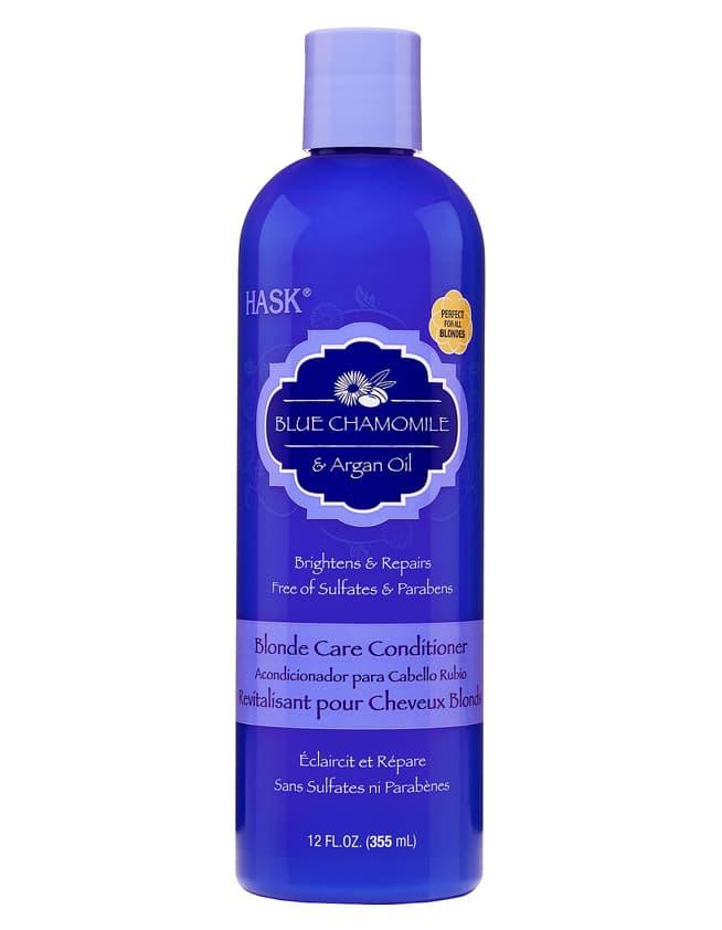 Blue Chamomile  Argan Oil  Кондиционер С Экстрактом Голубой Ромашки И Аргановым Маслом Для Светлых Волос 355 Мл Hask