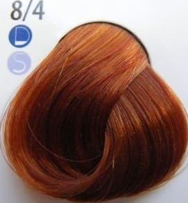 De Luxe Краска Для ВолосКраски для волос<br>Эстель Делюкс палитра с 2012 года включает в себя 140 оттенков  Эта краска для волос  которая изготовлена отечественным производителем  Используя эту краску  вы получите глубокий цвет  стойкость окрашивания  а также сможете насладиться фантастическим блеском Ваших волос  Краска для волос Эстель Делюкс предназначена для тонких  ослабленных волос  Она создана на основе хромоэнергетического комплекса  Это значит  что в состав краски входить специальная эмульсия  которая служит для защиты волос во время окрашивания  Основою комплекса является коктейль  в котором содержатся экстракт каштана  хитозан  а также витамины и микроэлементы  Благодаря этому Эстель Делюкс оказывает лечебное воздействие на Ваши волосы и заботится об их структуре  Используя ее  Ваши волосы будут выглядеть живыми и здоровыми  Эстель Делюкс - это краска  которая легко смешивается  Ее можно просто и быстро нанести на волосы  А также она считается экономичной в использовании  Ее расход становит - 60г  для средней густоты волос и длиной до 15 см  Эту краску можно использовать как и в профессиональных салонах  так и в домашних условиях<br>Type: № 8/4 Светло-русый медный;