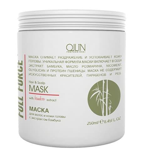 Купить Full Force Маска Для Волос И Кожи Головы С Экстрактом Бамбука, Ollin Professional