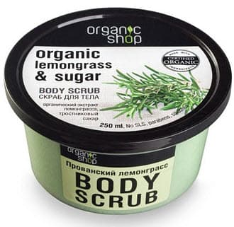 Фото #1: Body Scrub Organic Lemongrass  Sugar Скраб Для Тела Прованский Лемонграс