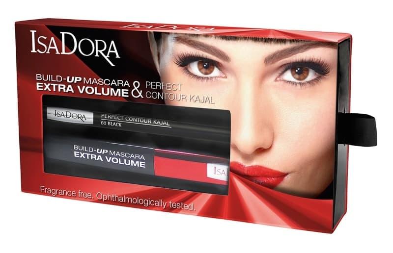 Isadora Набор Тушь Для Ресниц Build-Up Mascara Extra Volume № 01  Карандаш Для Век Perfect Contour Kajal