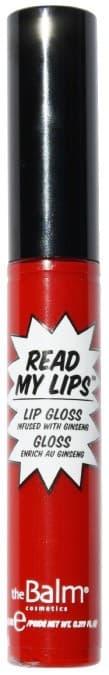 Read My Lips Блеск Для ГубБлеск для губ<br>Read My Lips lipgloss от TheBalm   роскошный блеск для создания эффекта пухлых губ и придания им соблазнительного влажного сияния  Нежная текстура блеска ложится на кожу тонким ровным слоем  не оставляя полос и разводов  Удобный аппликатор точно наносит и равномерно распределяет средство по губам  а широкая палитра оттенков позволяет подобрать идеальный цвет  Блеск не растекается  не размазывается и не скатывается в складках губ  ReadMyLipslipgloss не только помогает создать соблазнительный макияж  но и ухаживает за кожей губ  Сафлоровое и касторовое масла  входящие в состав продукта  являются натуральными антиоксидантами  они питают  смягчают  увлажняют и разглаживают кожу  а также ускоряют процесс ее регенерации Экстракты женьшеня  алоэ вера и листьев зеленого чая обладают мощным тонизирующим  успокаивающим и омолаживающим действием  возвращая коже упругость и эластичность<br>Type: WOW!;