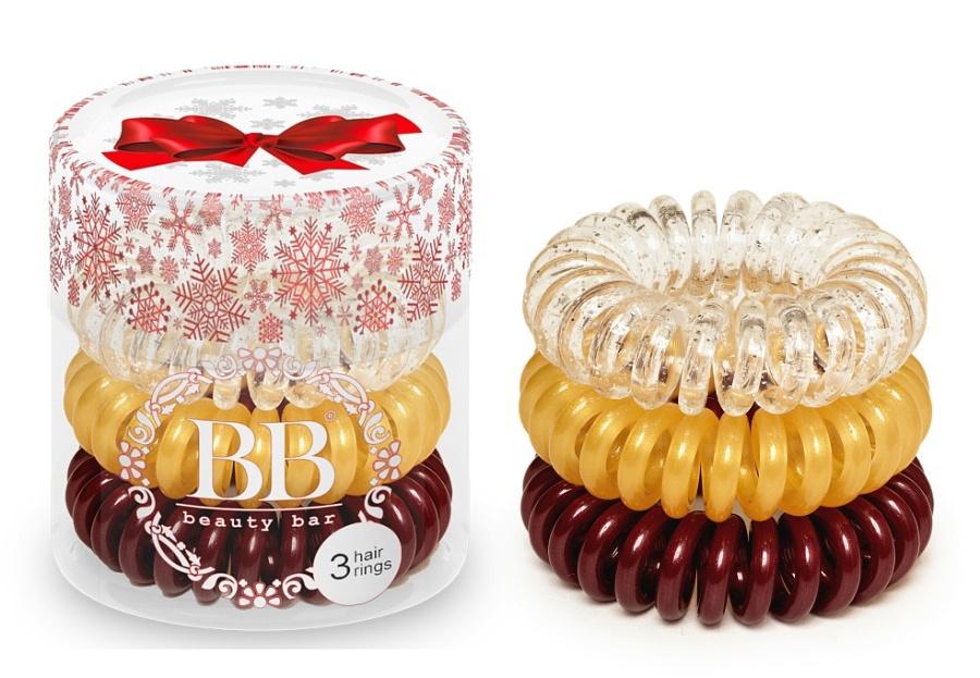 Купить Резинка Для Волос Цвет Бордовый Золотистый Прозрачный, Beauty Bar