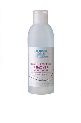 Domix Green Nail Polish Remover Cредство Для Снятия С Ногтей Всех Видов Лака С Ацетоном