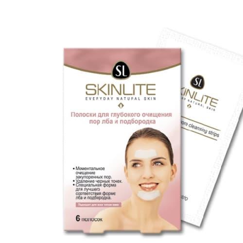 Skinlite Chin  Forehead Pore Cleansing Strips Полоски Для Глубокого Очищения Пор Лба И Подбородка
