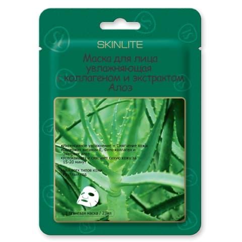 Купить Aloe Essence Mask Маска Для Лица Увлажняющая С Коллагеном И Экстрактом Алоэ 1 Шт, Skinlite
