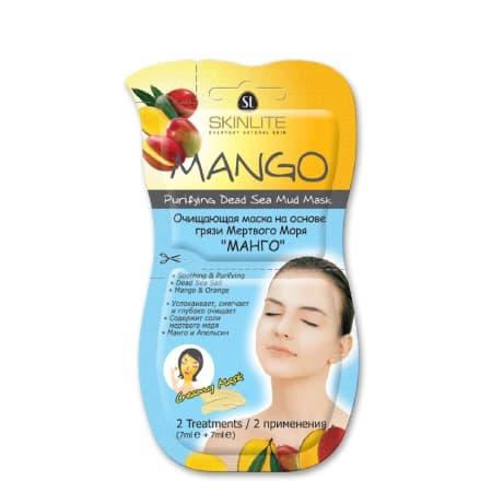 Skinlite Mango Purifying Dead Sea Mud Mask Очищающая Маска На Основе Грязи Мертвого Моря Манго 2 Применения