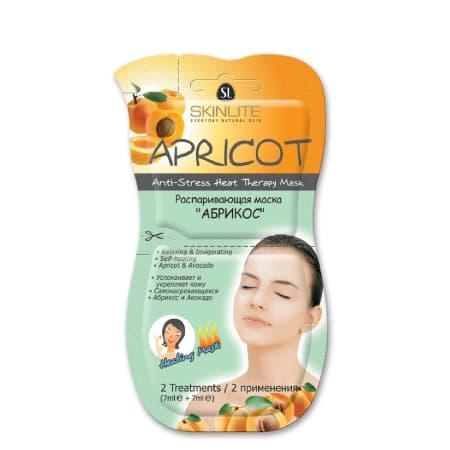 Skinlite Apricot Anti-Stress Heat Therapy Mask Распаривающая Маска Абрикос 2 Применения