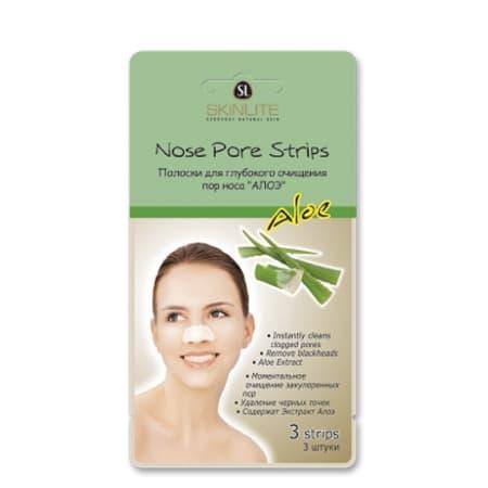 Skinlite Nose Pore Strips Aloe Полоски Для Глубокого Очищения Пор Носа Алоэ