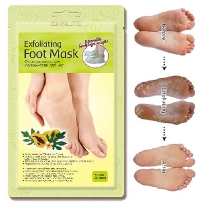 Skinlite Exfoliating Foot Mask Отшелушивающая Маска-Носки Для Ног 1 Пара