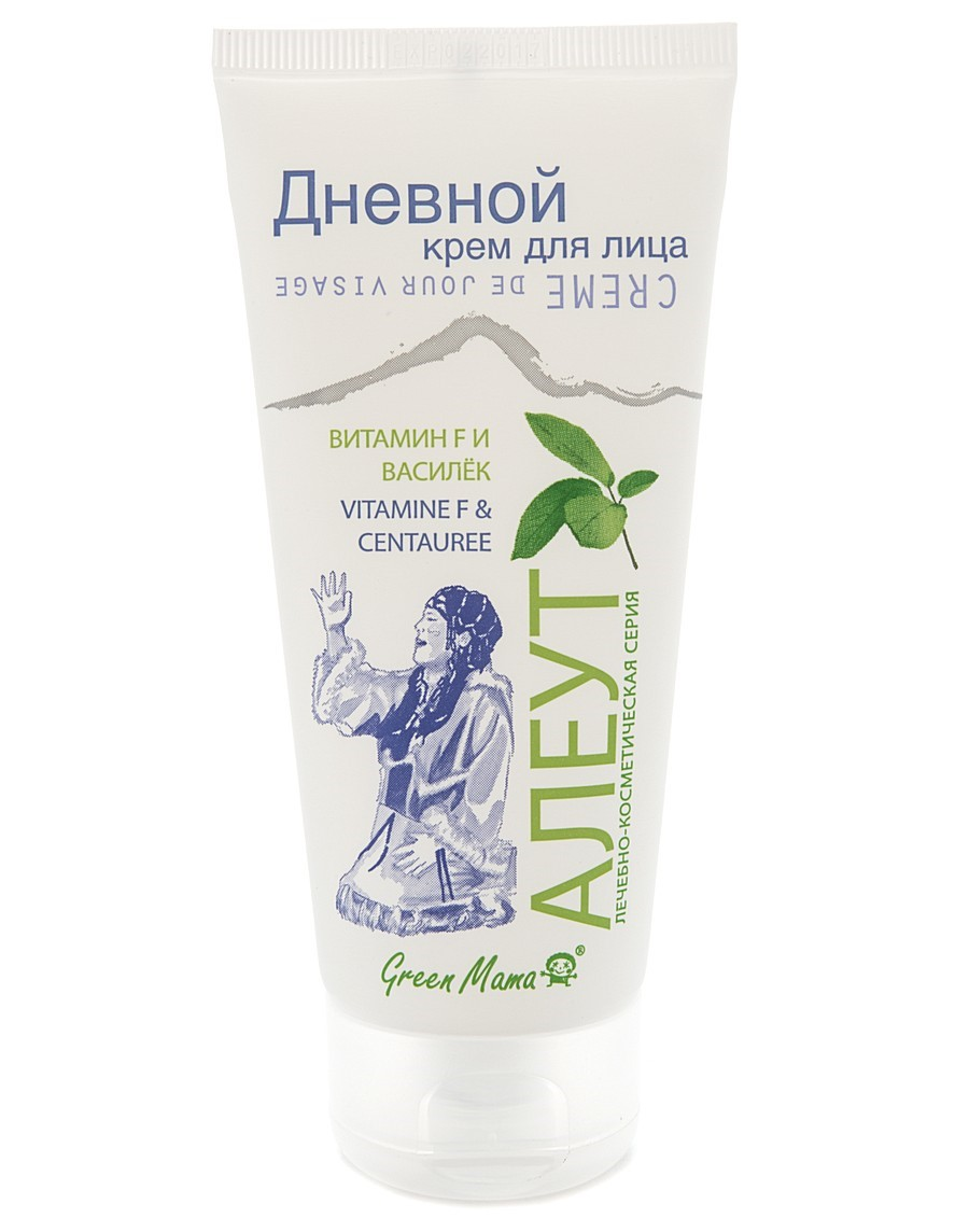 Green Mama Алеут Дневной Крем Для Лица Василёк И Витамин F