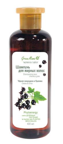 Green Mama Формула Тайги Шампунь Для Жирных Волос Чёрная Смородина И Крапива