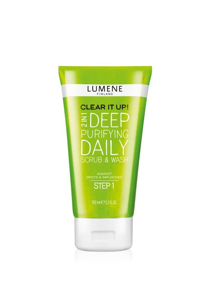 Lumene Clear It Up Глубоко Очищающее Средство Для Умывания И Скраб