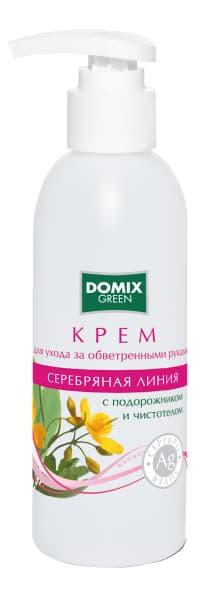 Domix Green Серебряная Линия Крем Для Обветренных Рук С Подорожником И Чистотелом И Наносеребром