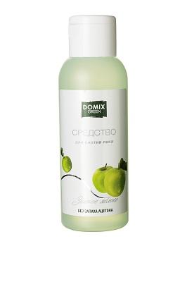 Купить Средство Для Снятия Лака Для Натуральных И Исскуственных Ногтей Без Запаха Ацетона Зелёное Яблоко, Domix Green