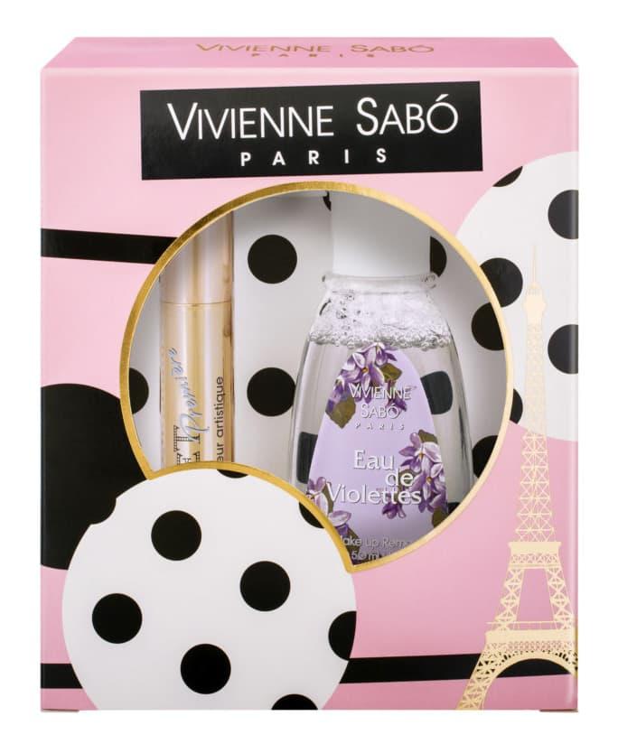 Vivienne Sabo Подарочный Набор Тушь Cabaret Рremiere № 01  Жидкость Для Снятия Макияжа Сирень