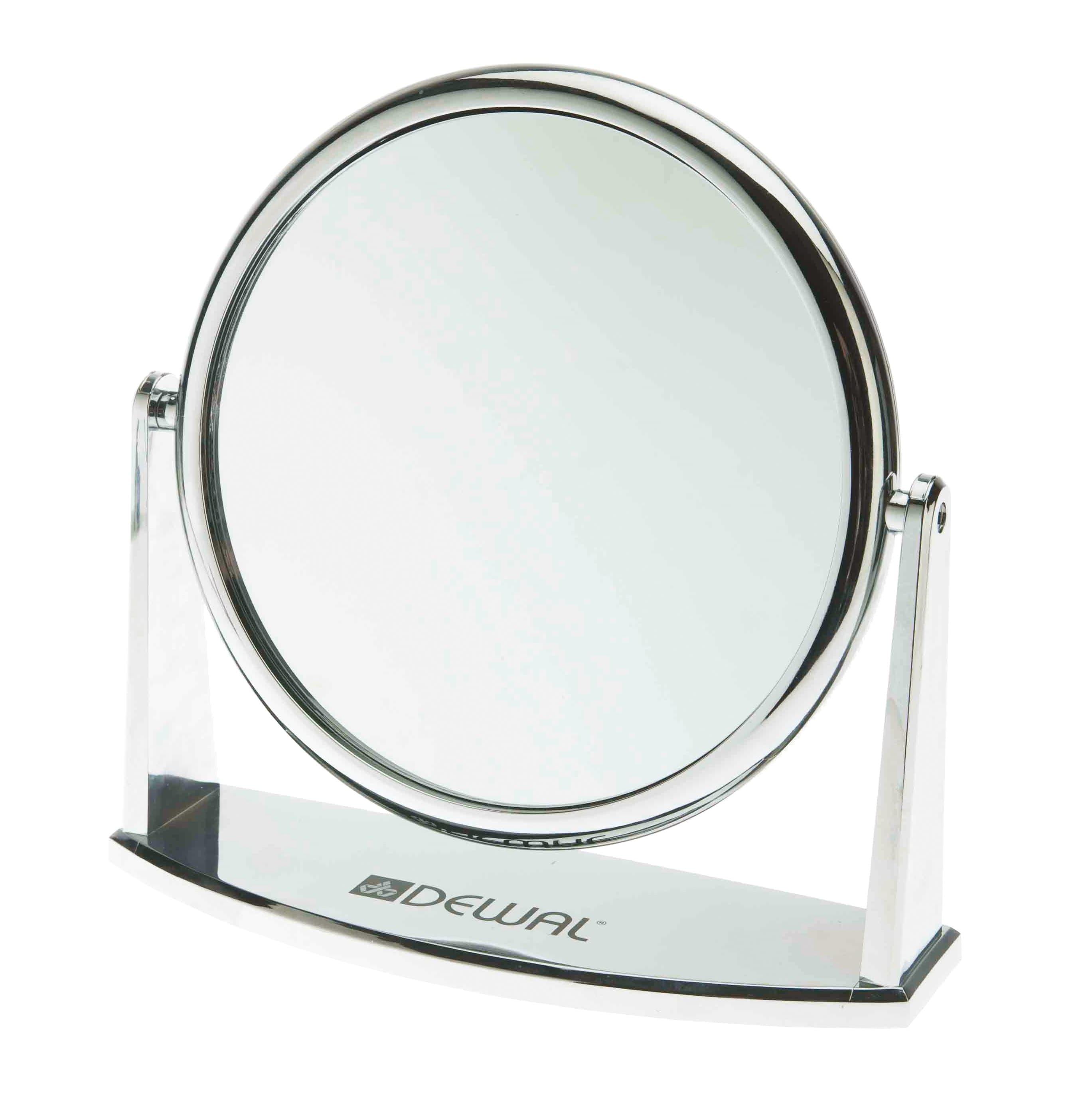 Зеркало Настольное Пластиковое Серебристое 18Х185См Mr-425Зеркала<br>Зеркало косметическое   Увеличение  2-ух кратное   Диаметр  18 5 см<br>