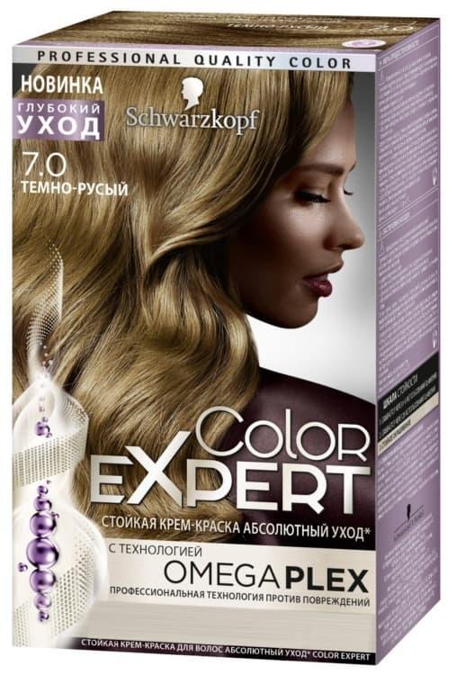 Color Expert Краска Для ВолосКраски для волос<br>Краска для волос COLOR EXPERT от SCHWARZKOPF  Новинка в окрашивании для домашнего использования  Первое окрашивание с профессиональной технологией OMEGAPLEX против повреждений  Салонное Plex восстановление волос стало доступным благодаря Color Expert  Благодаря профессиональной технологии Omegaplex против повреждений  компромиссы остались в прошлом  Теперь возможно получить все   экстрастойкий интенсивный цвет  100  закрашивание седины и заметное улучшение качества волос  Color Expert   первая стойкая крем-краска для домашнего использования с технологией Omegaplex  Теперь возможно все<br>Type: № 7-0 Темно-русый;