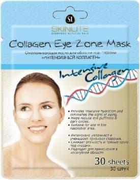 Collagen Eye Zone Mask Intensive Collagen Омолаживающая Маска Для Области Под Глазами Интенсивный КоллагенУход за кожей вокруг глаз<br>Обогащенная коллагеном  витамином Е и экстрактом зеленого чая  предназначена для интенсивного восстановления и ухода за кожей под глазами  способствует улучшению водного баланса кожи  повышению эластичности  устраняет признаки старения  Маска эффективно уменьшает отеки и темные круги под глазами  Идеально подходит для чувствительной кожи век<br>Type: 30 шт;