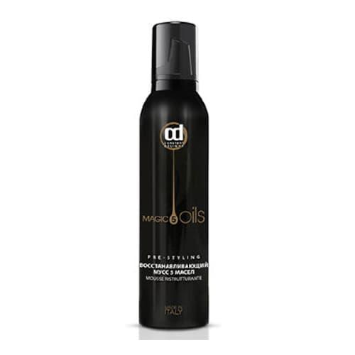 5 Magic Oils Восстанавливающий МуссТермозащита<br>Восстанавливающий мусс 5 MAGIC OILS от CONSTANT DELIGHT  Обладает высокопитательными и восстанавливающими свойствами  подготавливает волосы к укладке<br>Type: 250 мл;