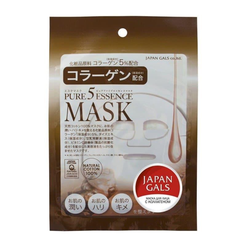 Japan Gals Pure 5 Essential Маска С Коллагеном